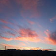 樺戸山の夕焼け