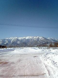 厳寒の樺戸山